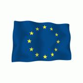 """Iškilus lipdukas """"ES vėliavėlė"""""""