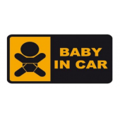 "Lipdukas ""BABY IN CAR"""