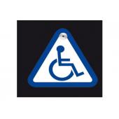 """Lipdukas """"Neįgalusis"""" su laikikliu prie stiklo"""