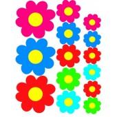 """Lipdukas """"Spalvotų gėlių rinkinys"""" 1/09325"""
