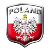 "Lipdukas ""POLAND "" aliuminis 2/33281"