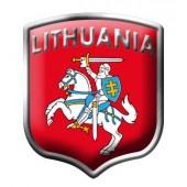 "Lipdukas "" LITHUANIA  "" aliuminis 2/33283"