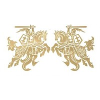 "Lipdukas ""Vytis"" 20x20 cm (2vnt) - auksinis"