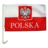 Lenkijos vėliava automobilui