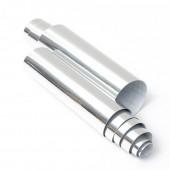 Karbonas - sidabrinis, veidrodinis chromas (10x100cm)